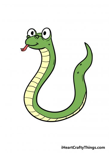 how to draw snake image