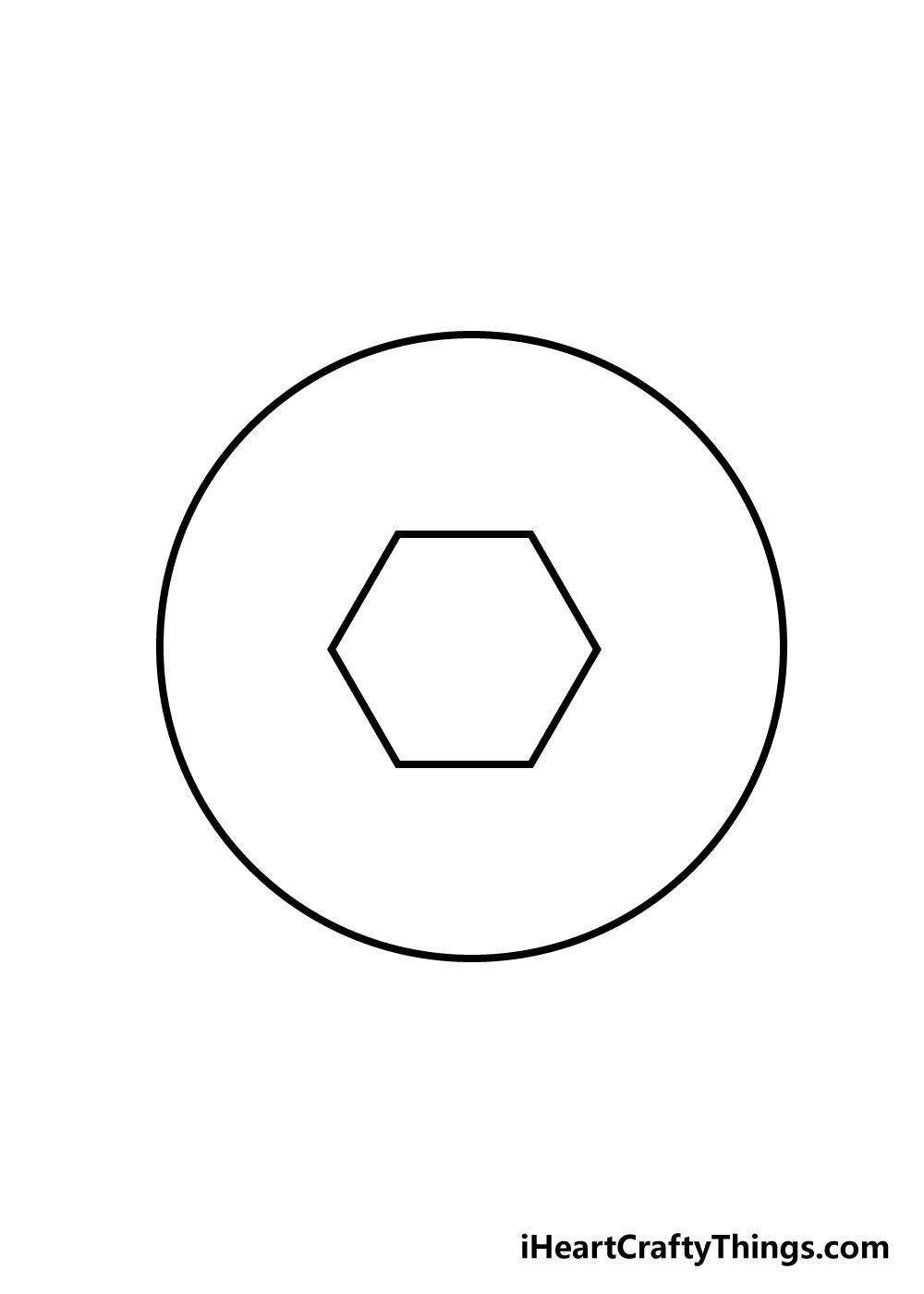 soccer ball drawing step 2