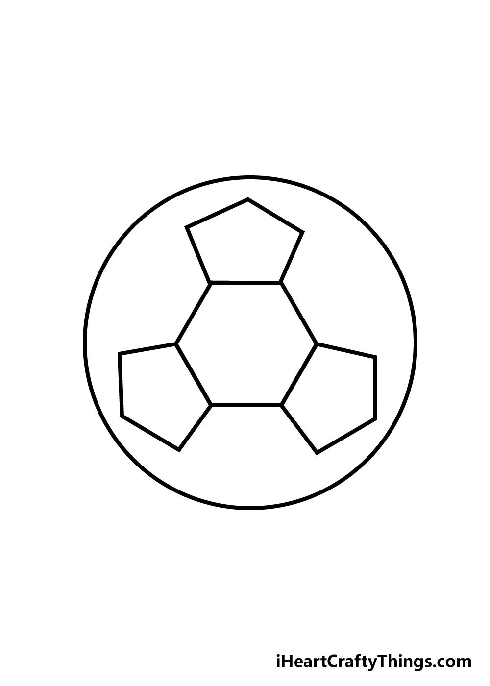 soccer ball drawing step 3