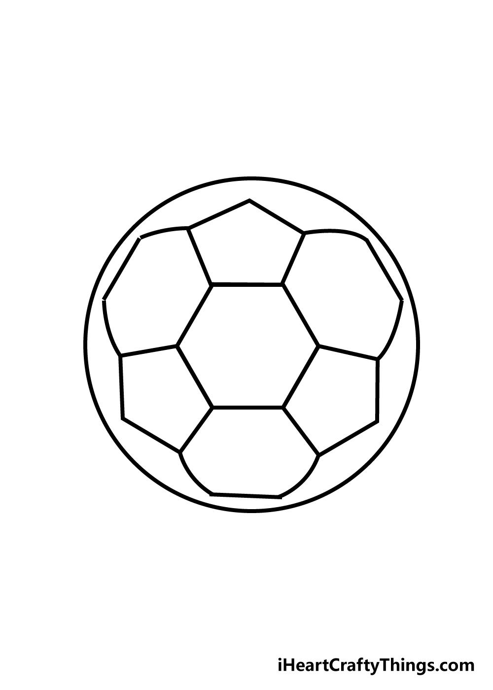 soccer ball drawing step 4