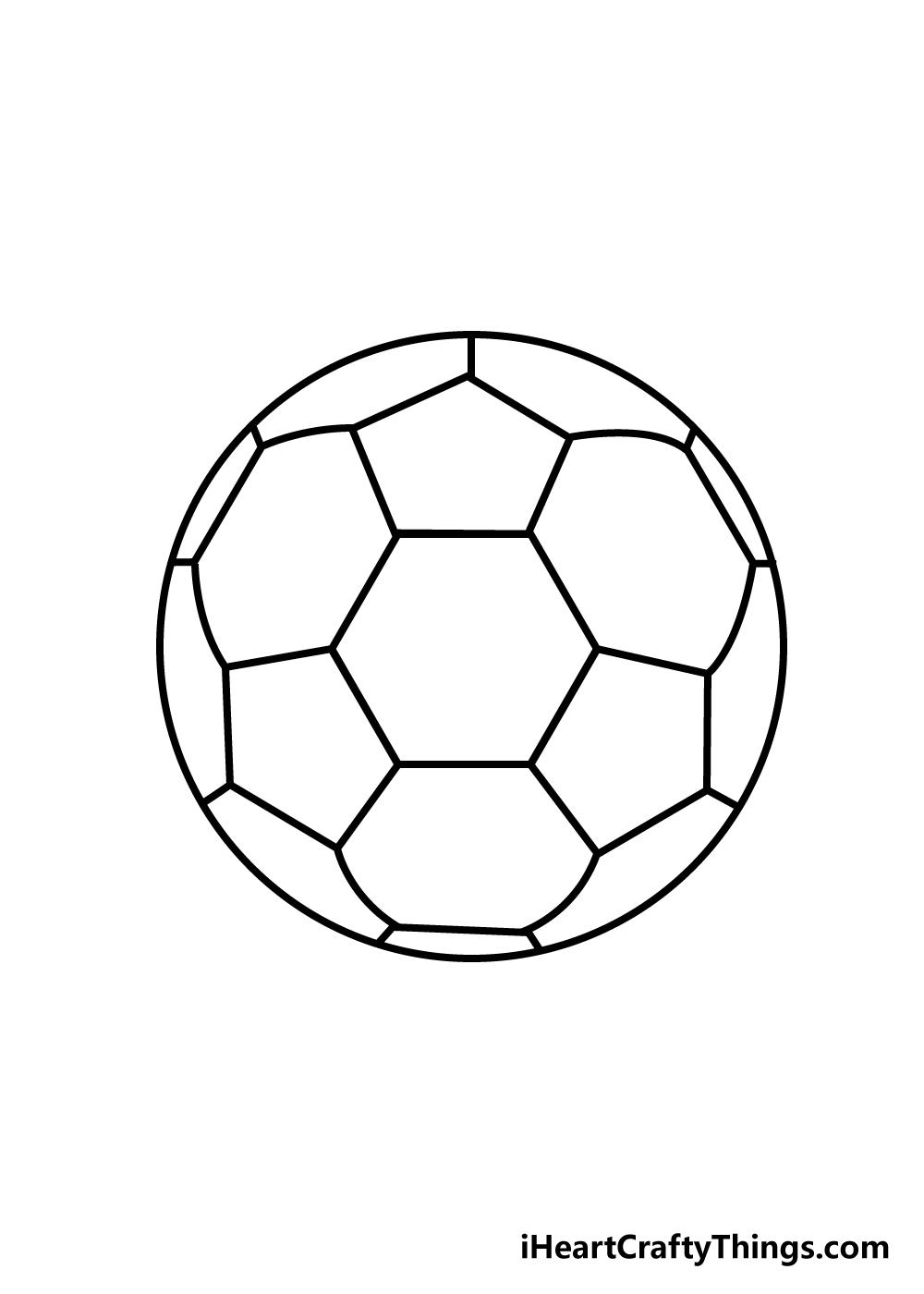 soccer ball drawing step 5