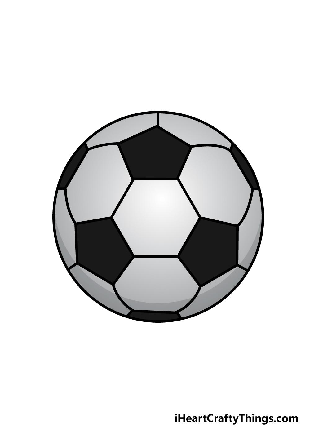 soccer ball drawing step 6