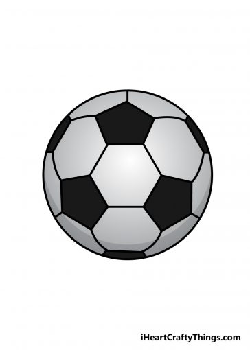 how to draw soccer ball image
