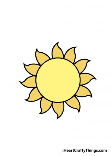 how to draw sun image