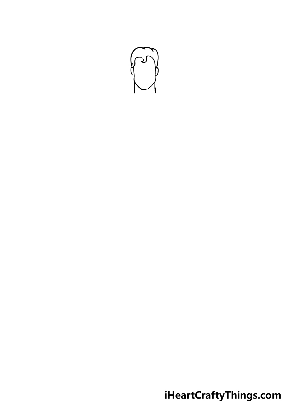 superhero drawing step 2