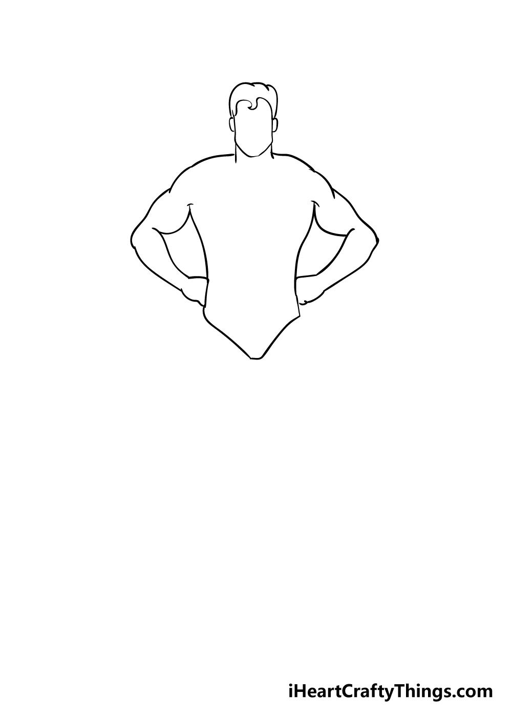 superhero drawing step 3