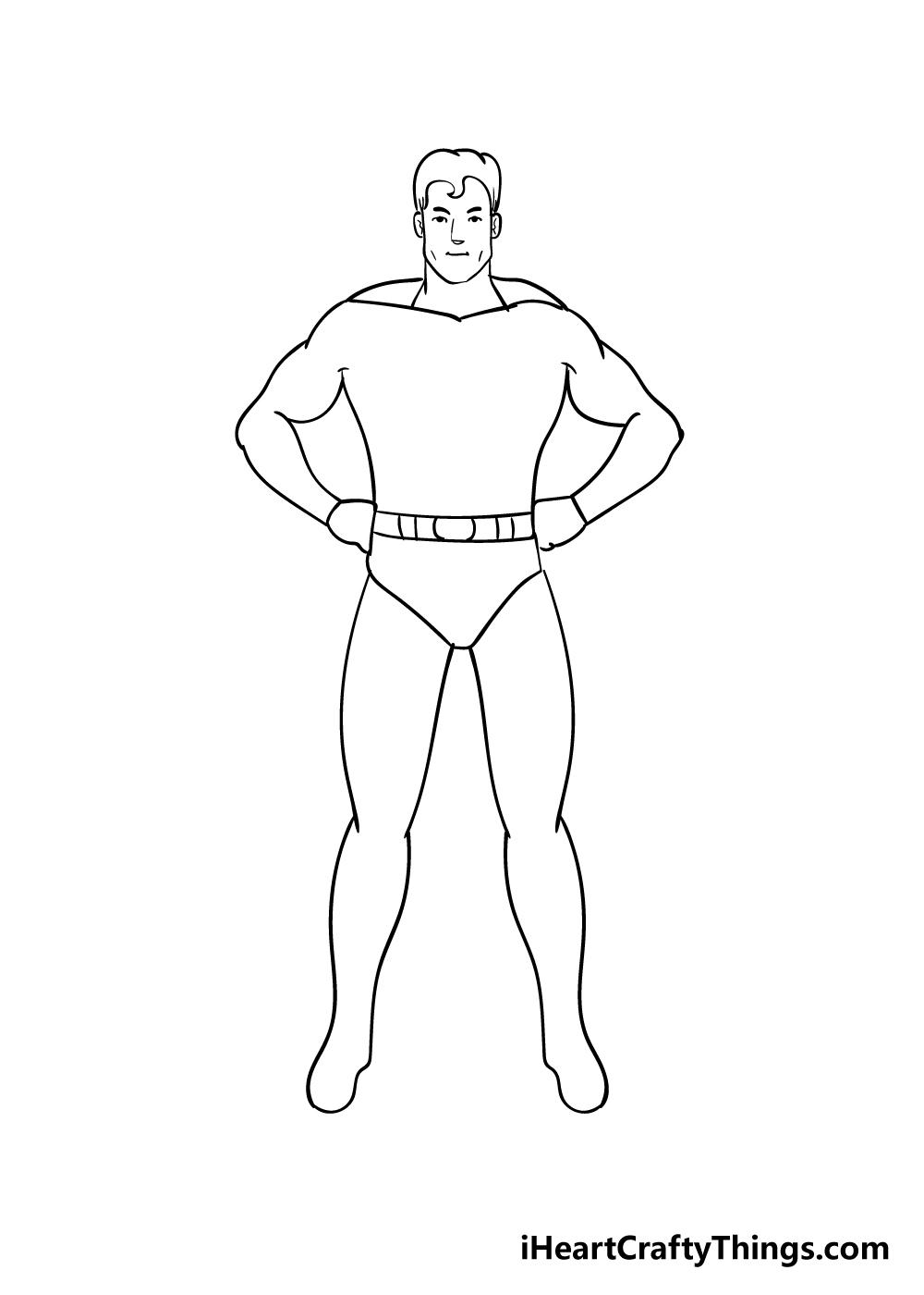 superhero drawing step 5