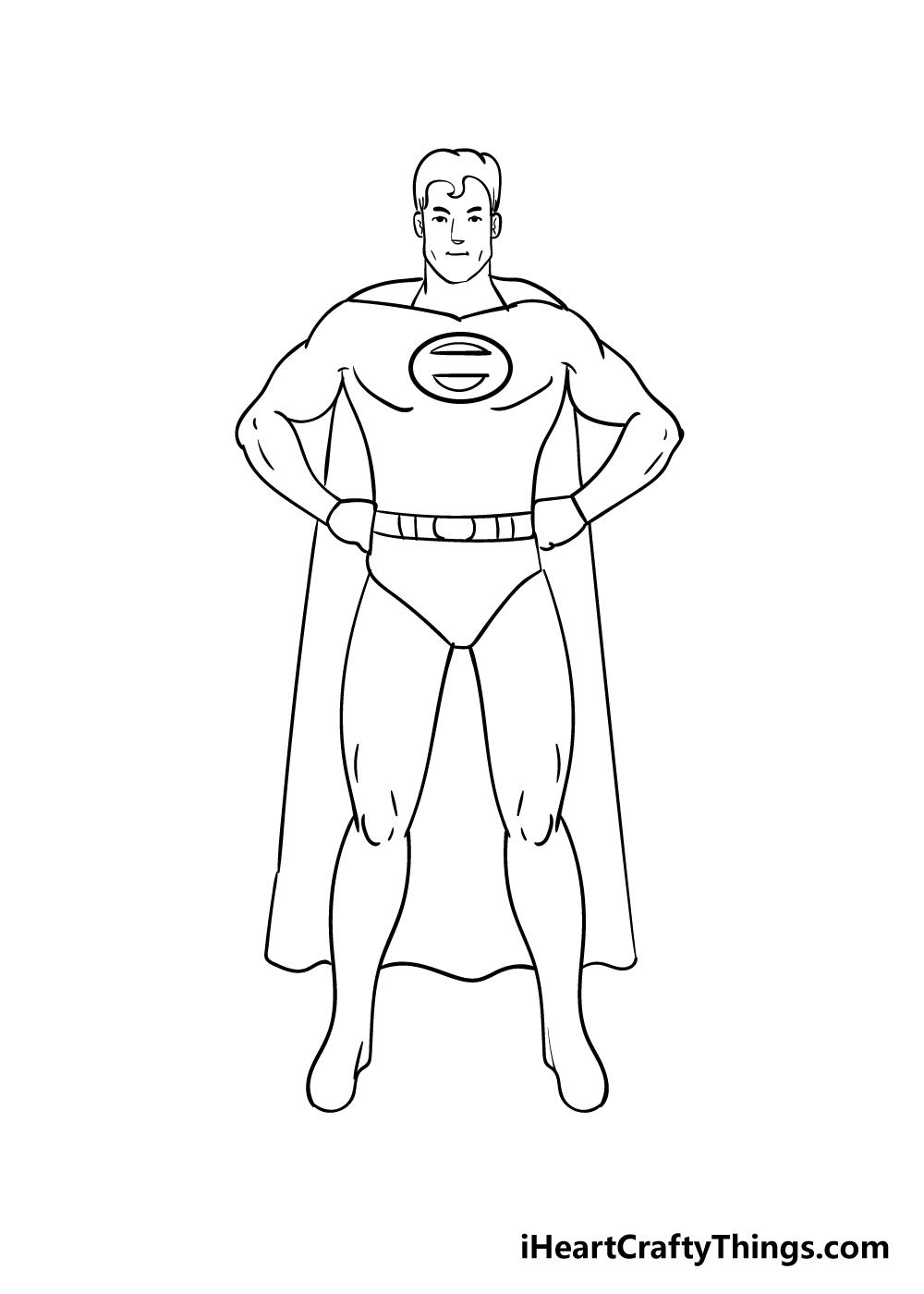superhero drawing step 6