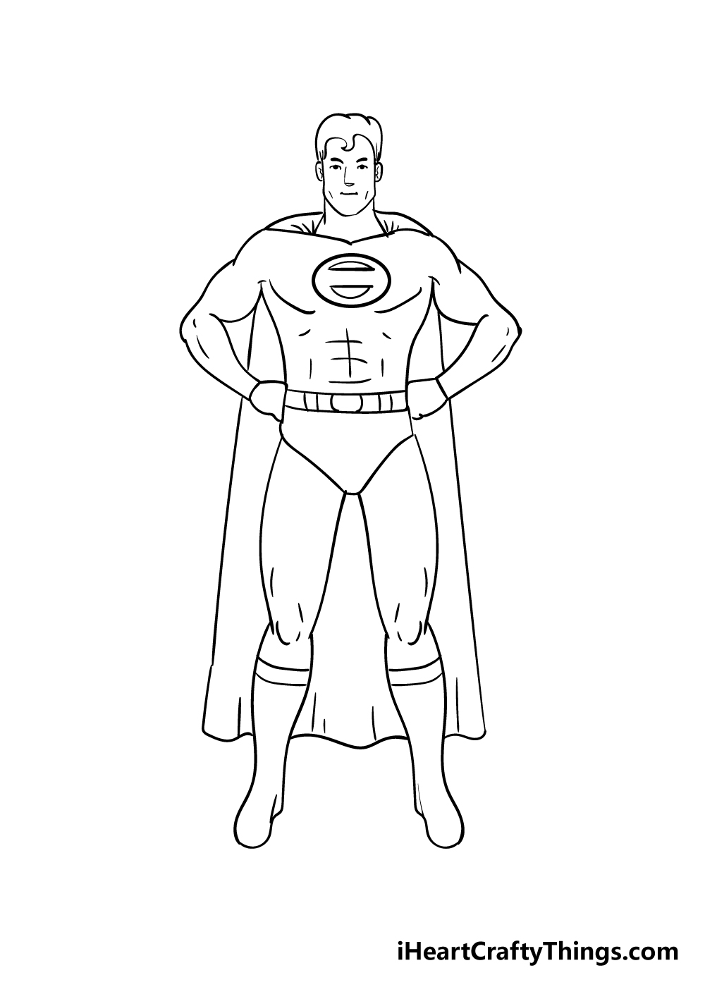 superhero drawing step 7