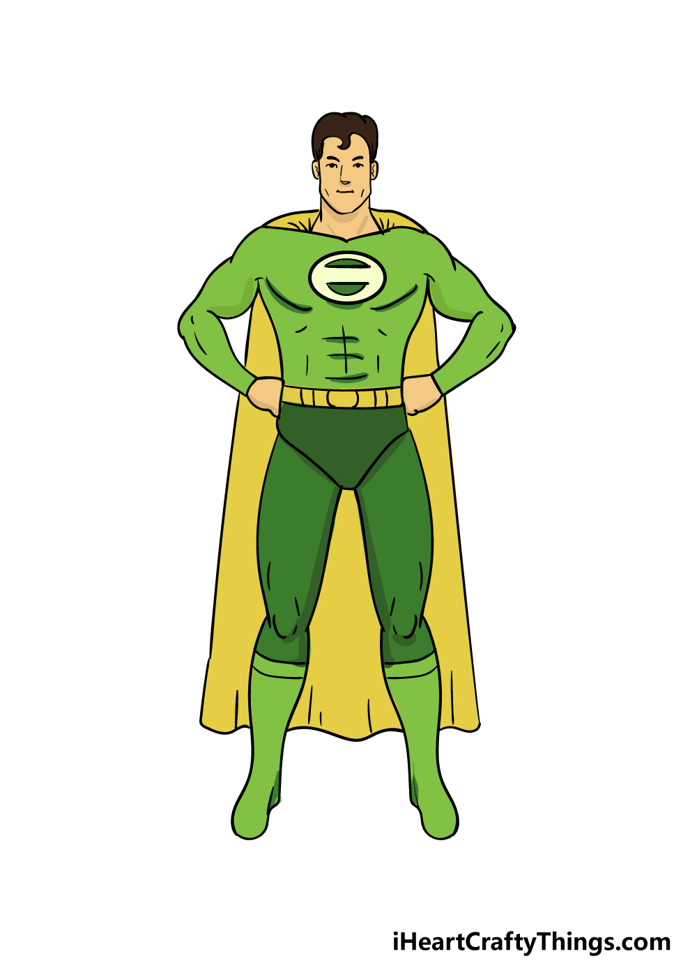 superhero drawing step 8