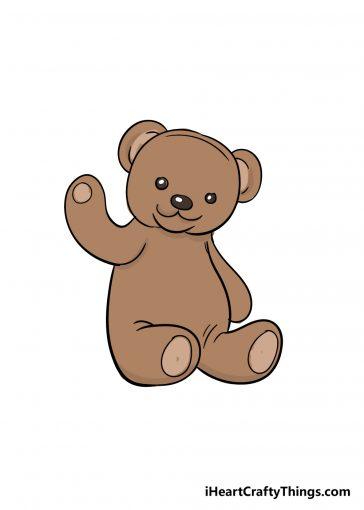 how to draw teddy bear image