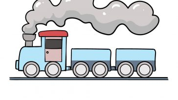 how to draw train image