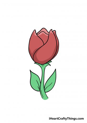 how to draw tulip image