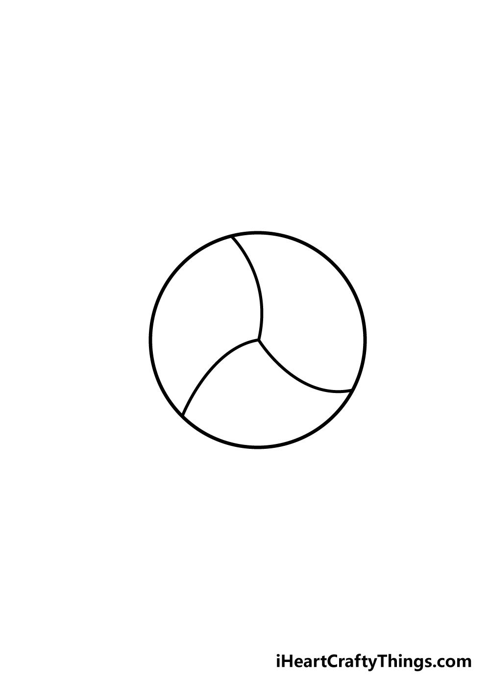 volleyball drawing step 3