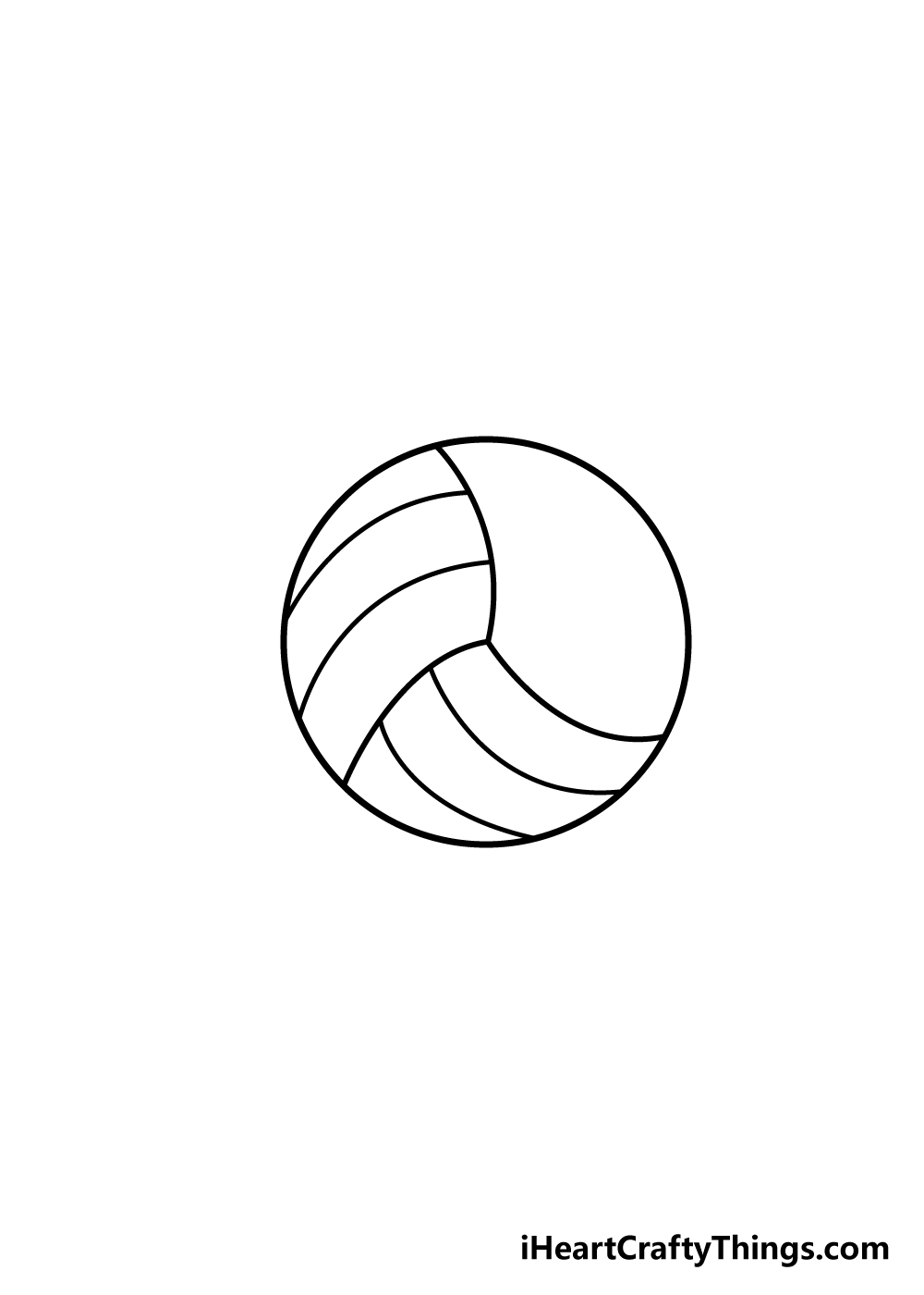 volleyball drawing step 4