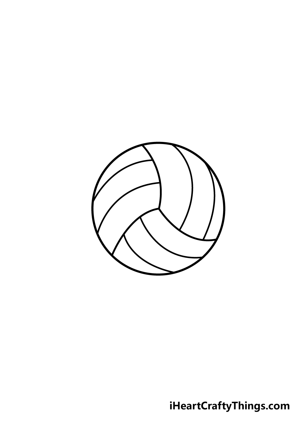volleyball drawing step 5