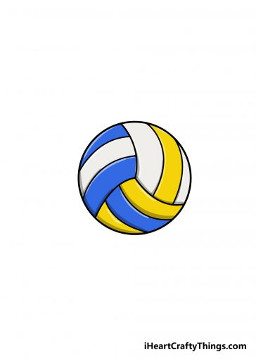 how to draw volleyball image