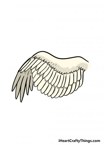how to draw a wing image