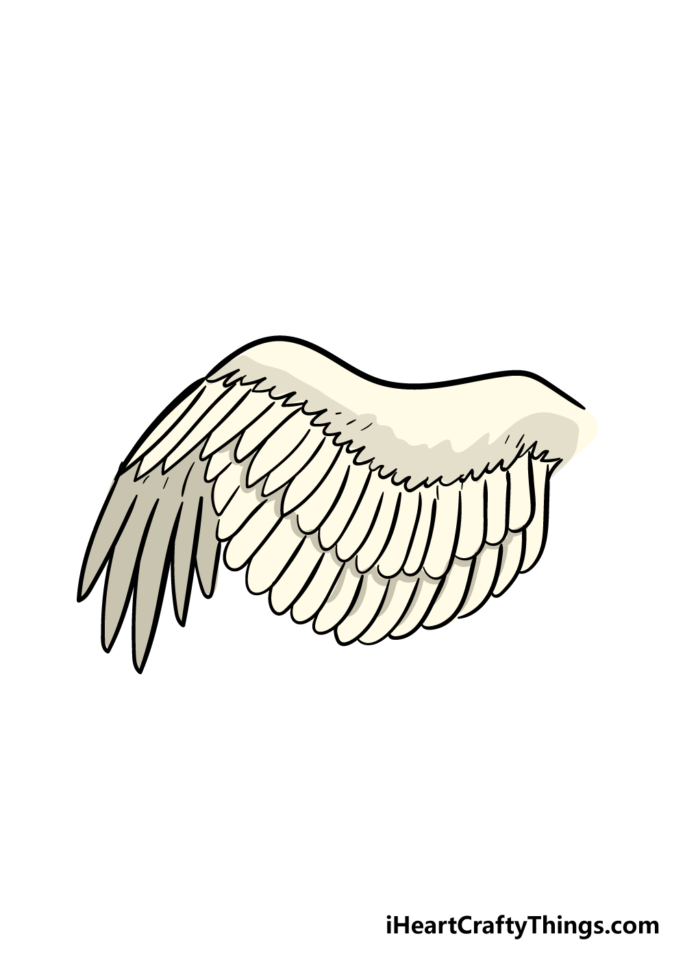 wing drawing step 7