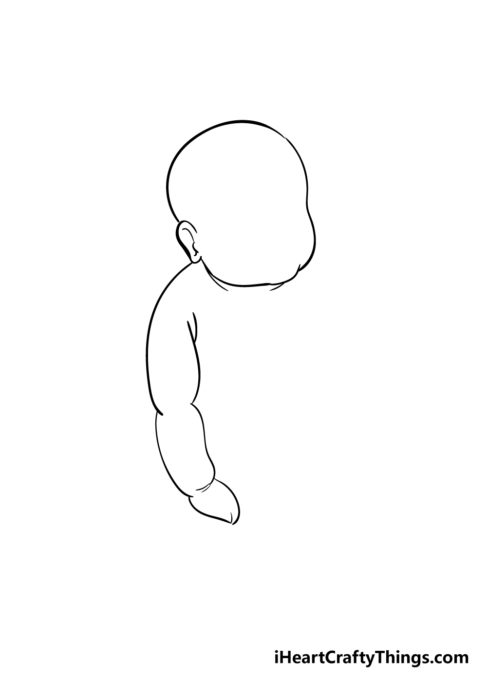 baby drawing step 2