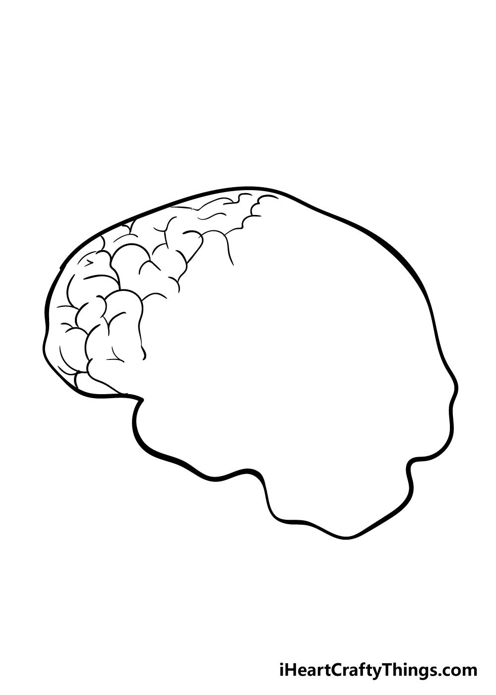 brain drawing step 3