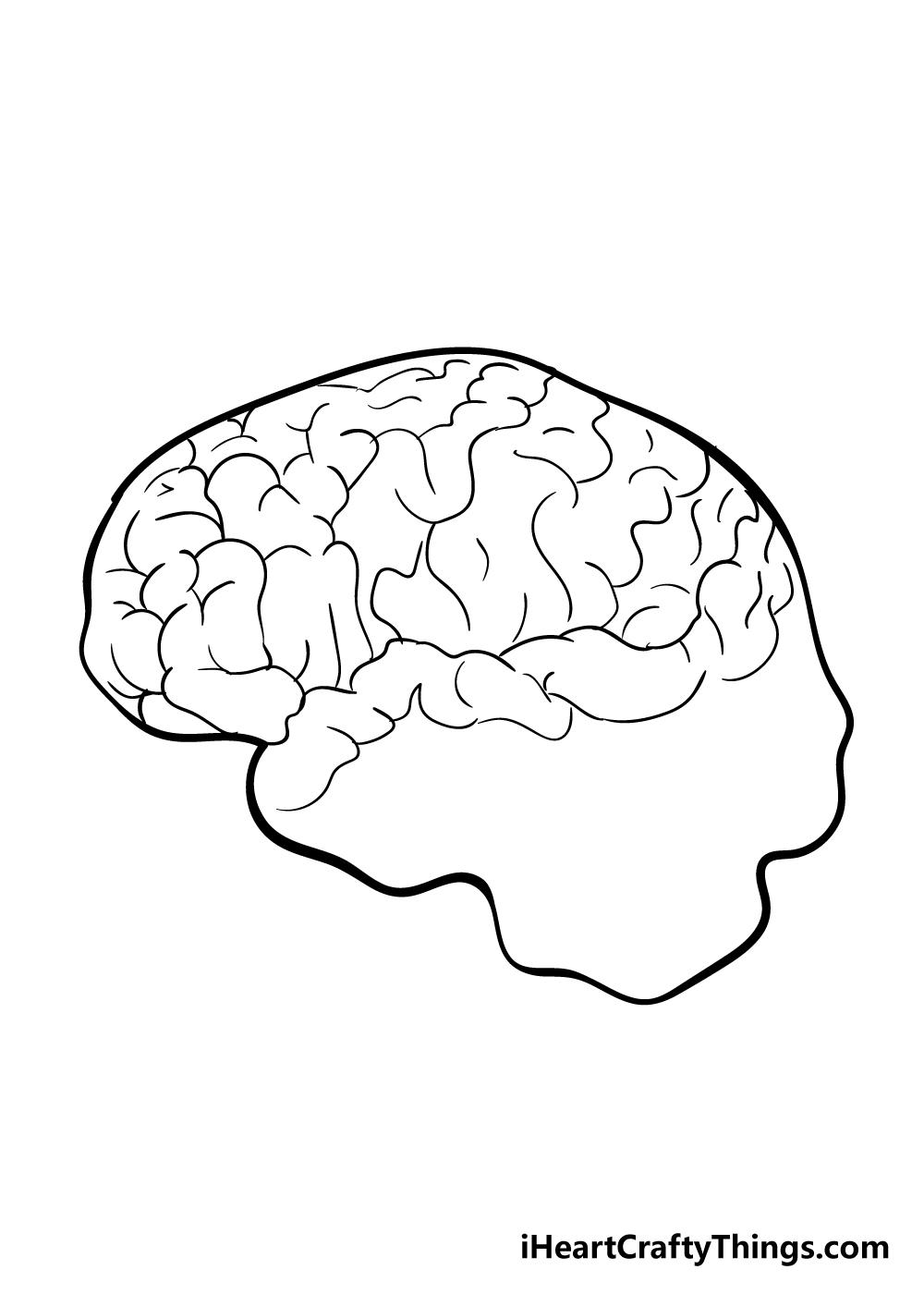 brain drawing step 4