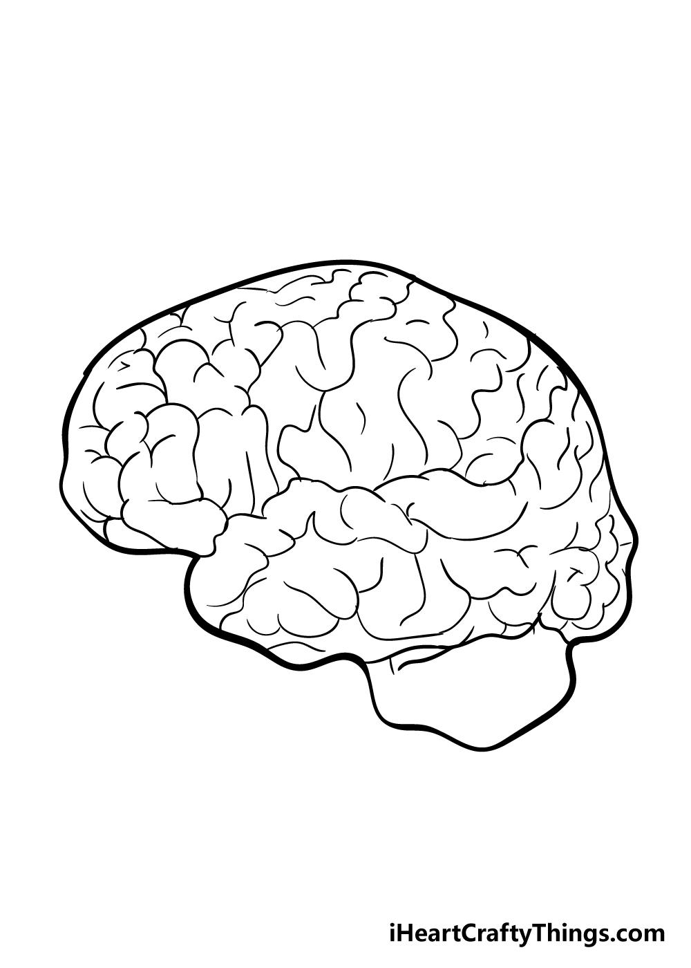 brain drawing step 5