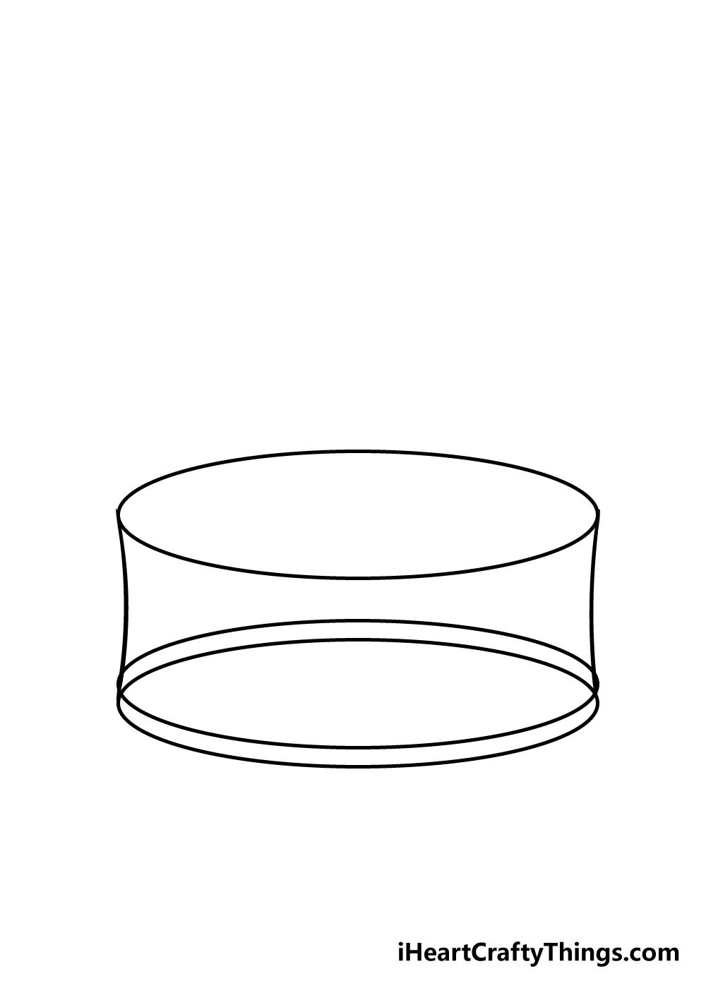 cake drawing step 2