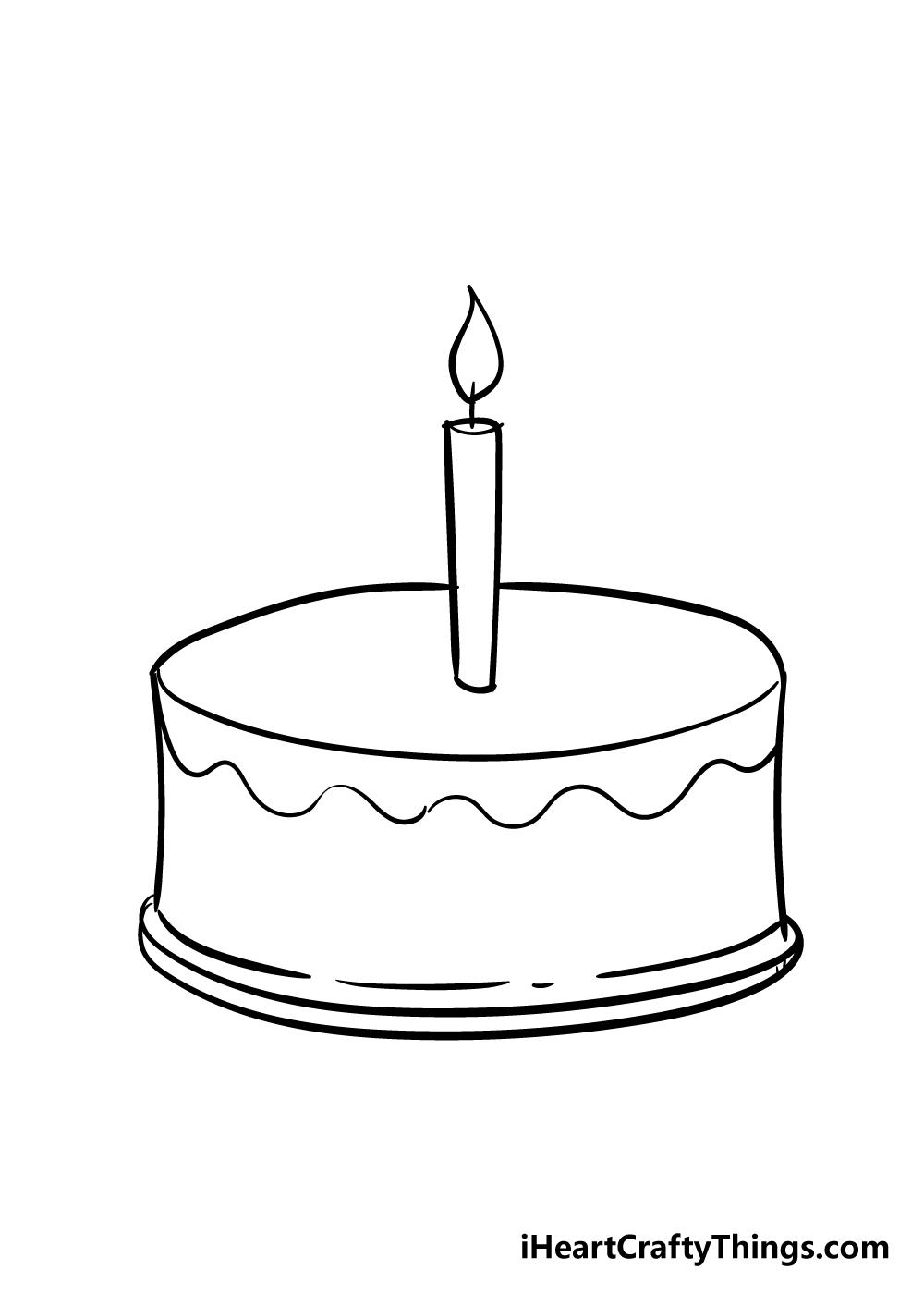 cake drawing step 4