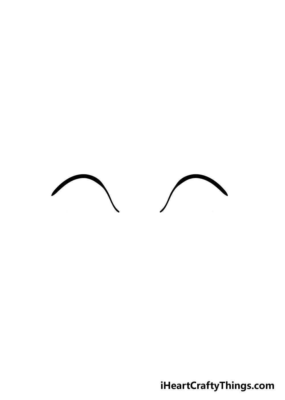 cartoon eyes drawing step 1