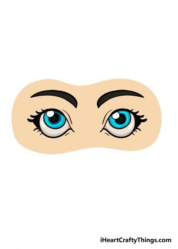 how to draw cartoon eyes image
