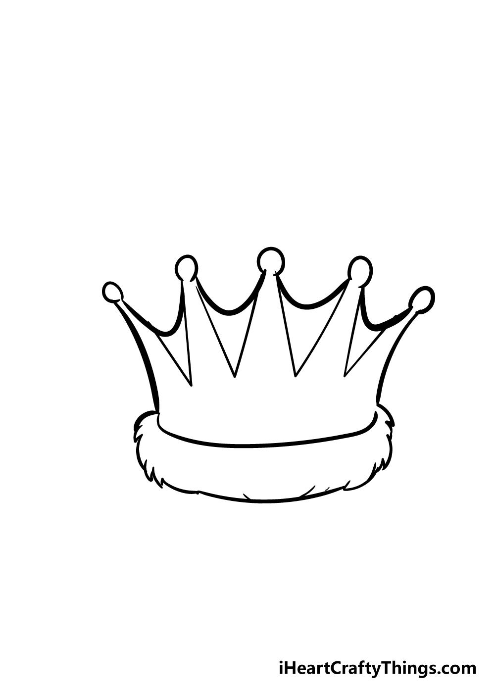 crown drawing step 4