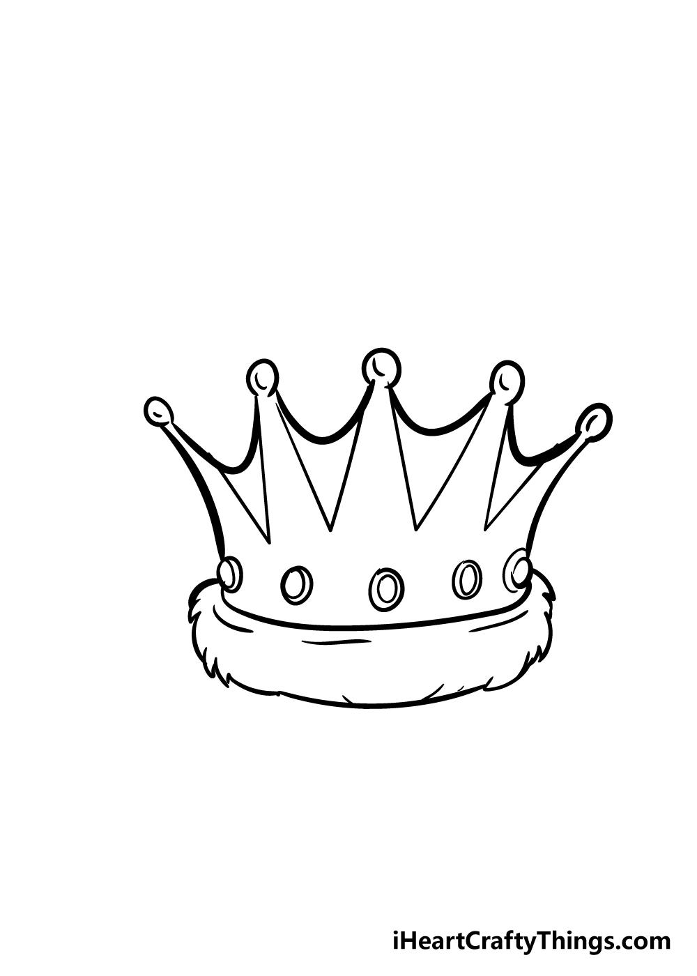 crown drawing step 6