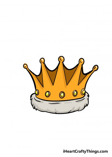 how to draw crown image