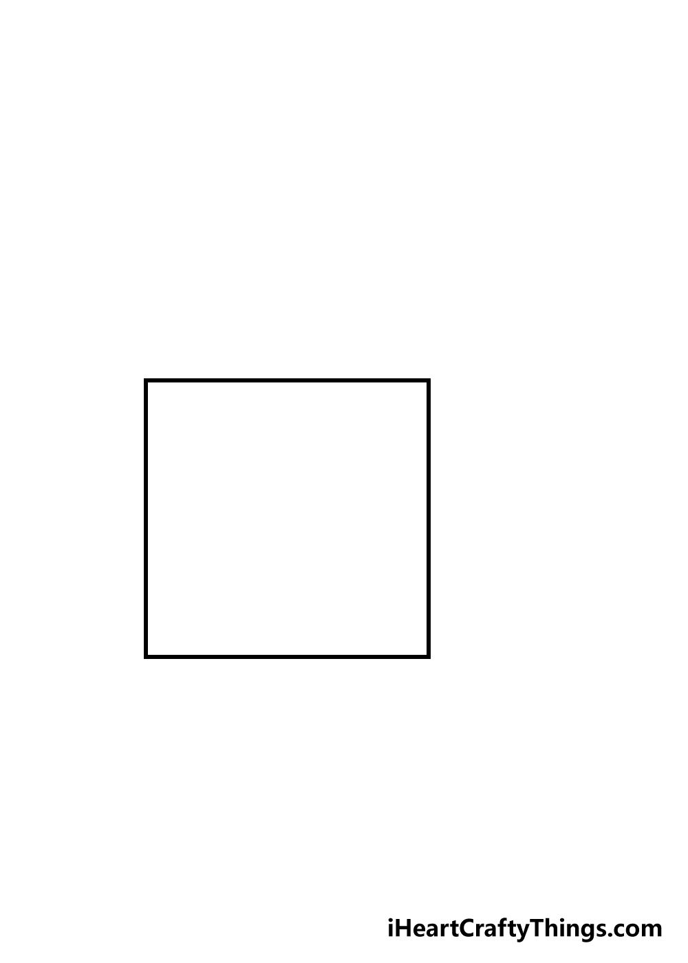 cube drawing step 1