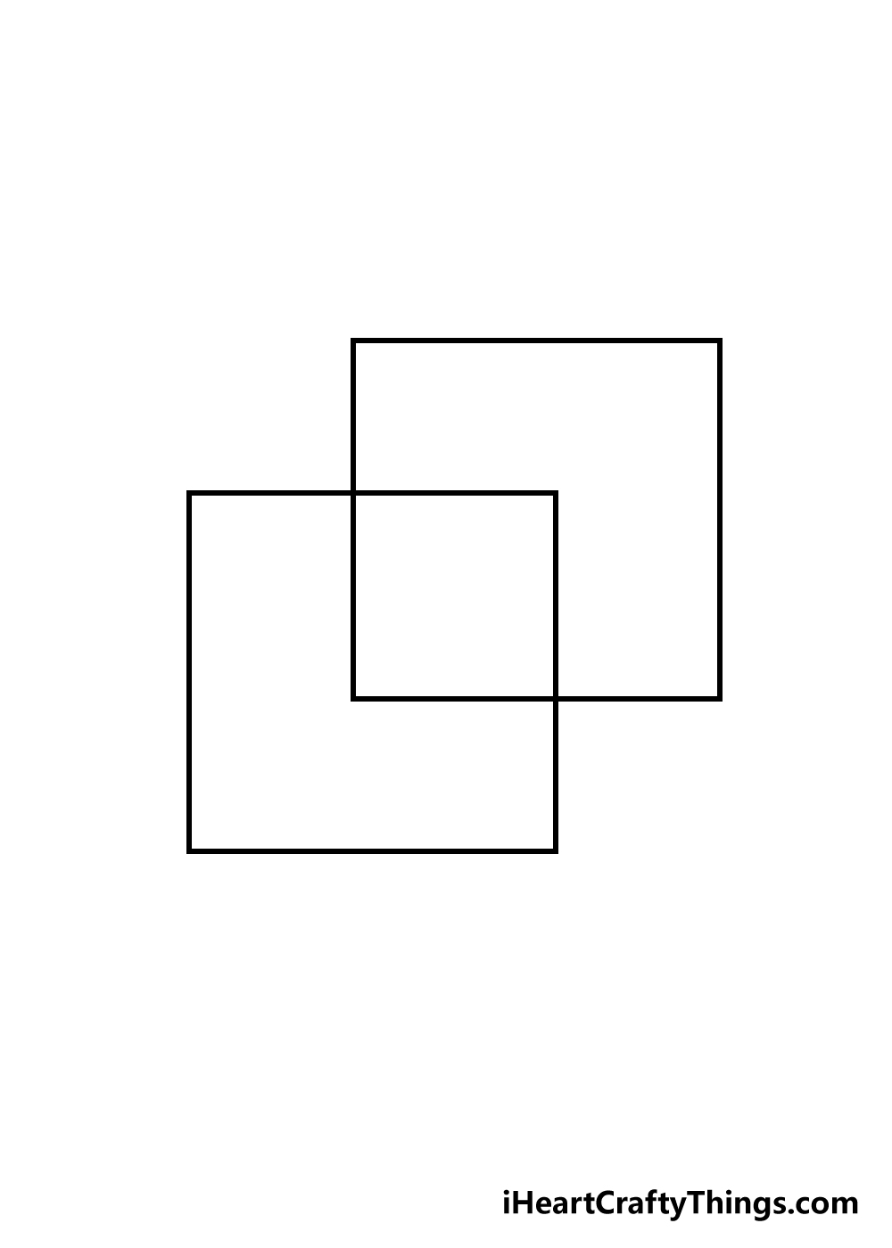 cube drawing step 2