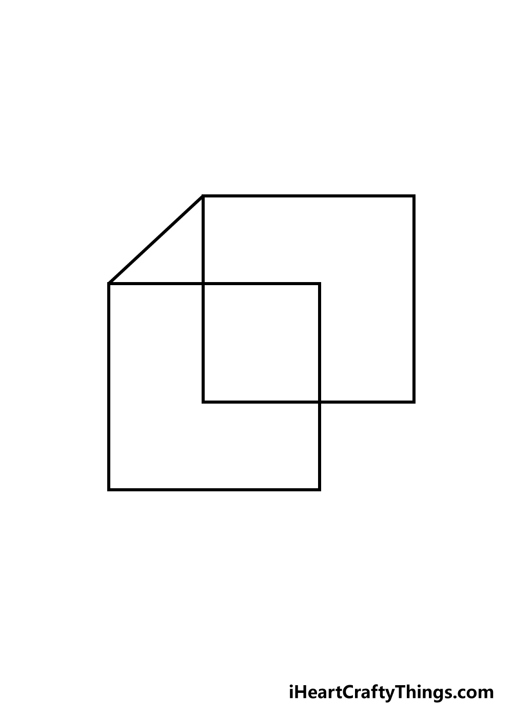 cube drawing step 3