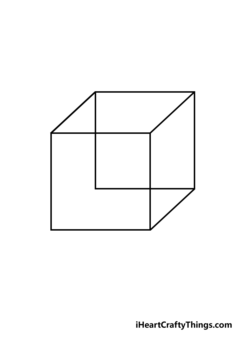 cube drawing step 4