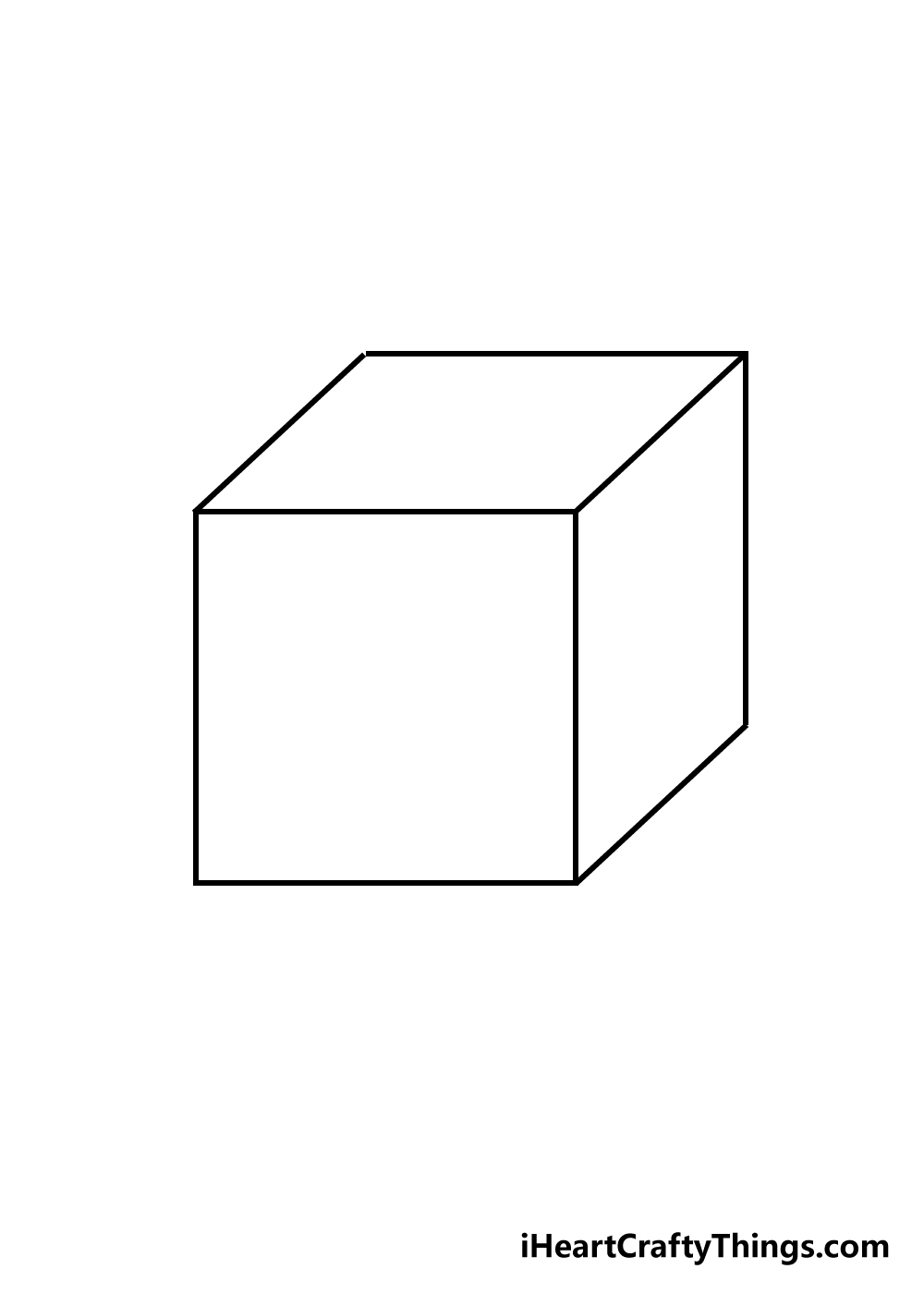cube drawing step 5
