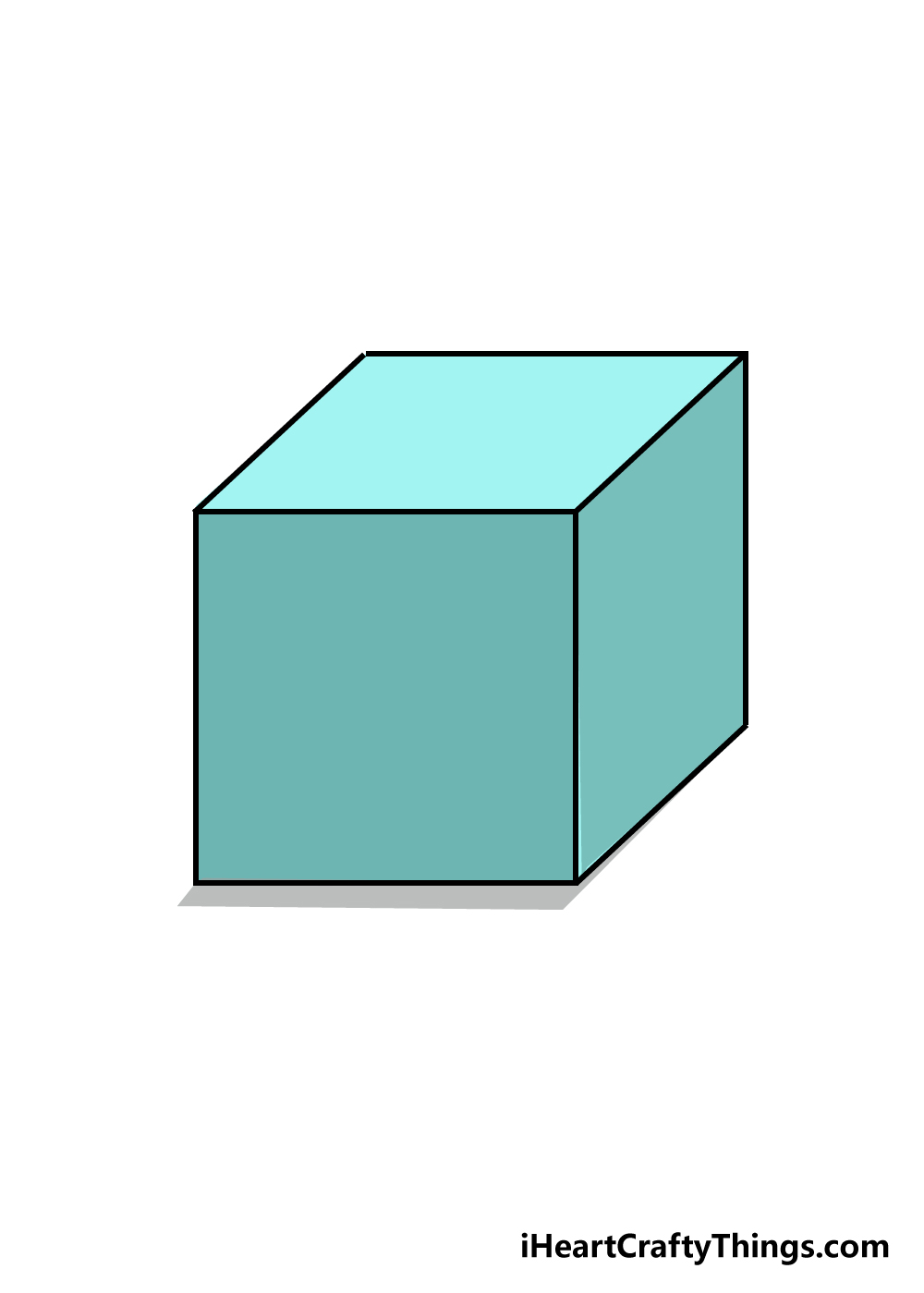 cube drawing step 6