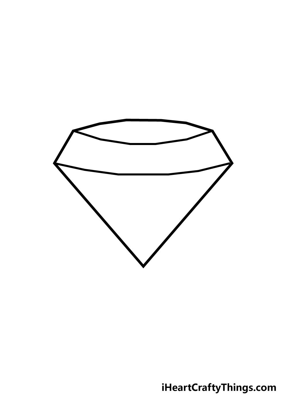 diamond drawing step 3