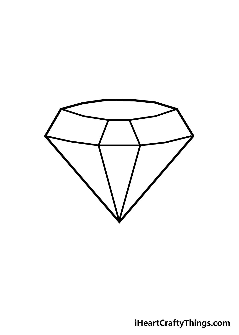 diamond drawing step 4