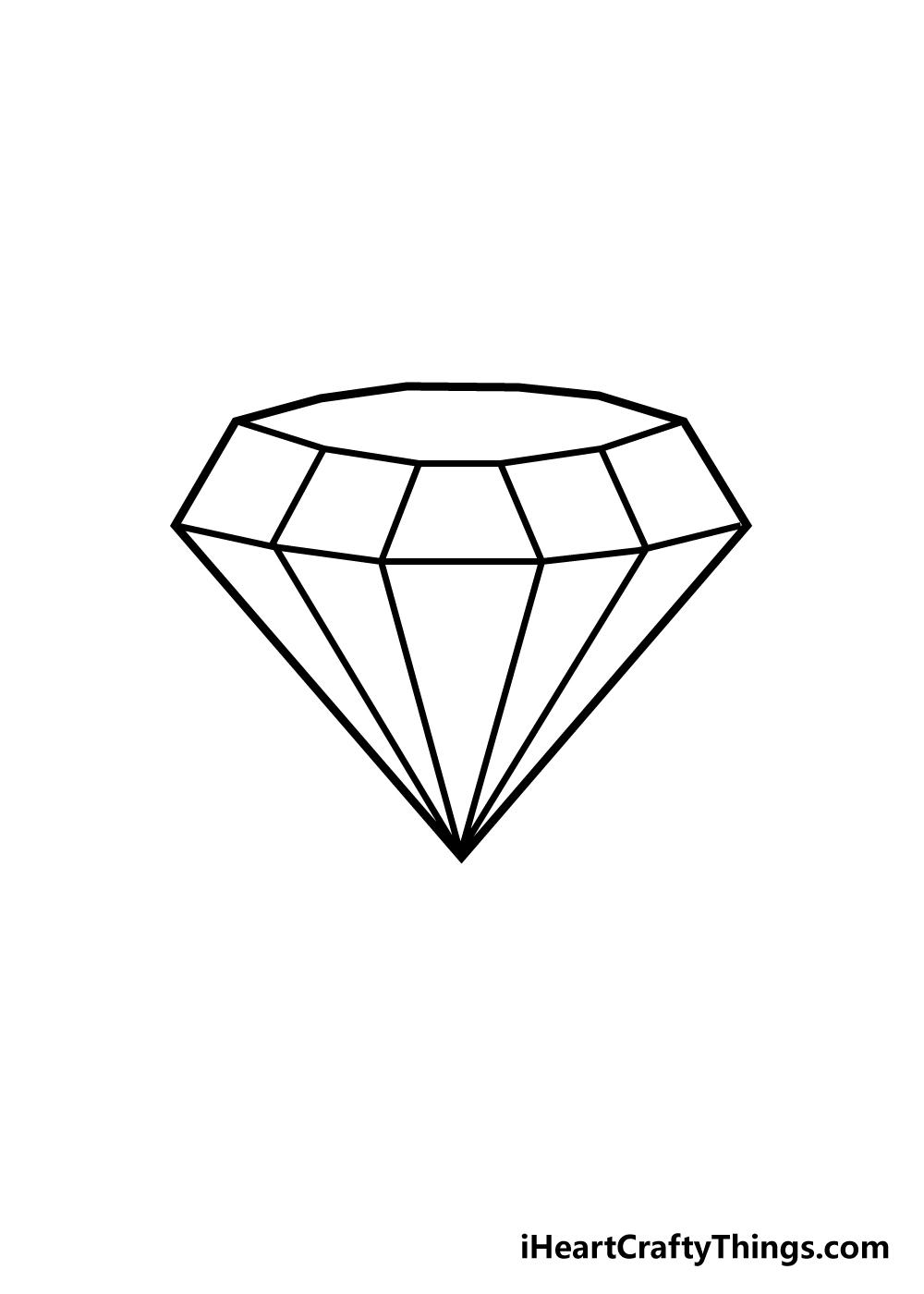 diamond drawing step 5