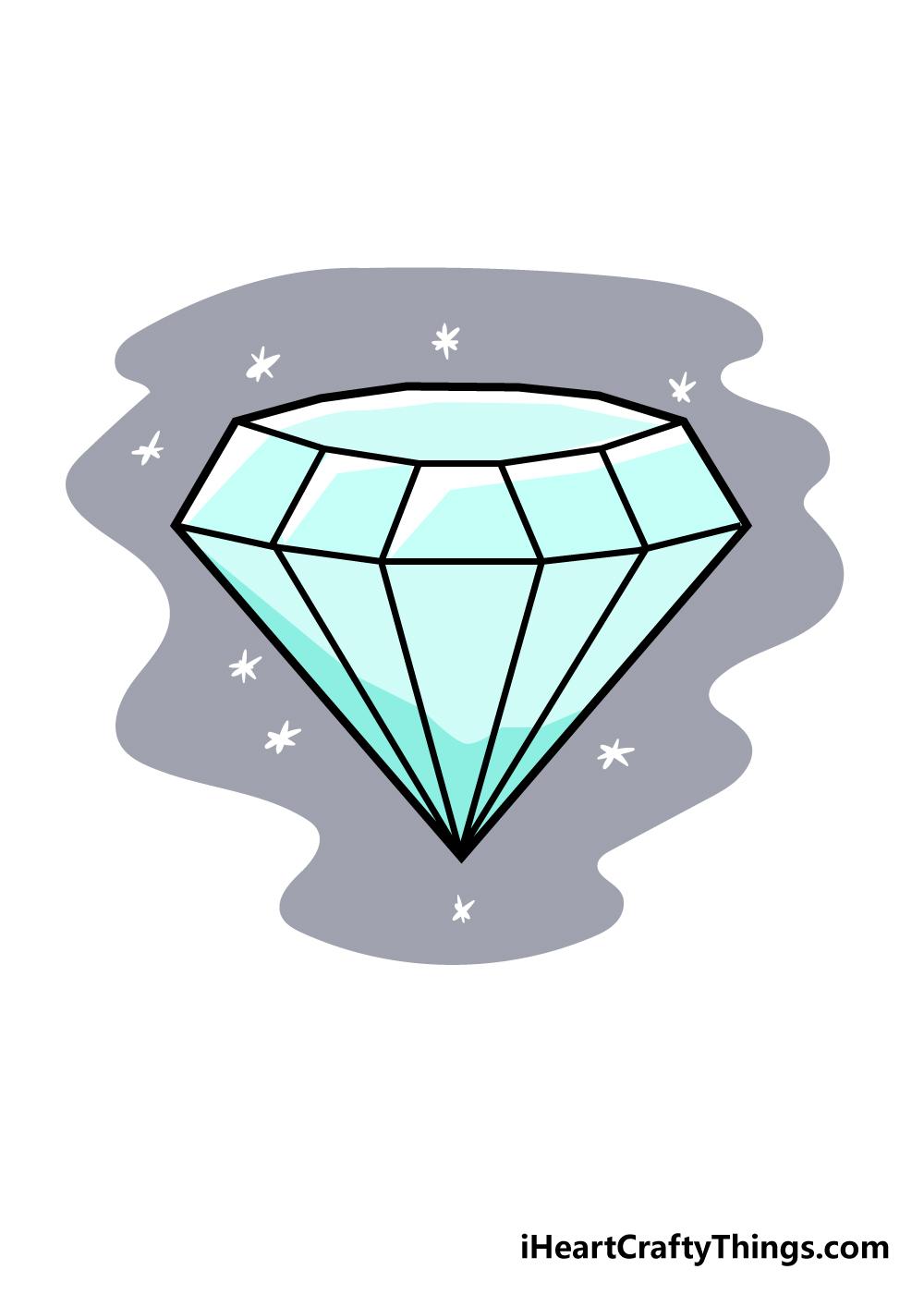 diamond drawing step 6