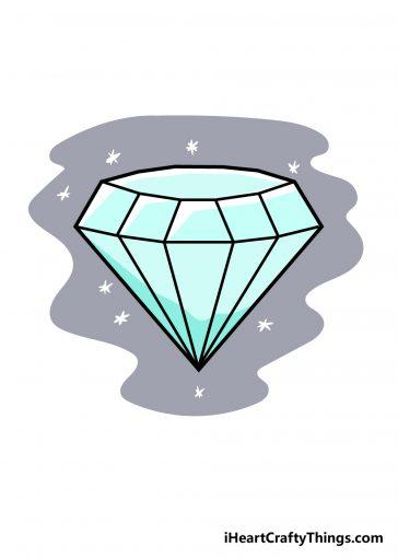 how to draw diamond image