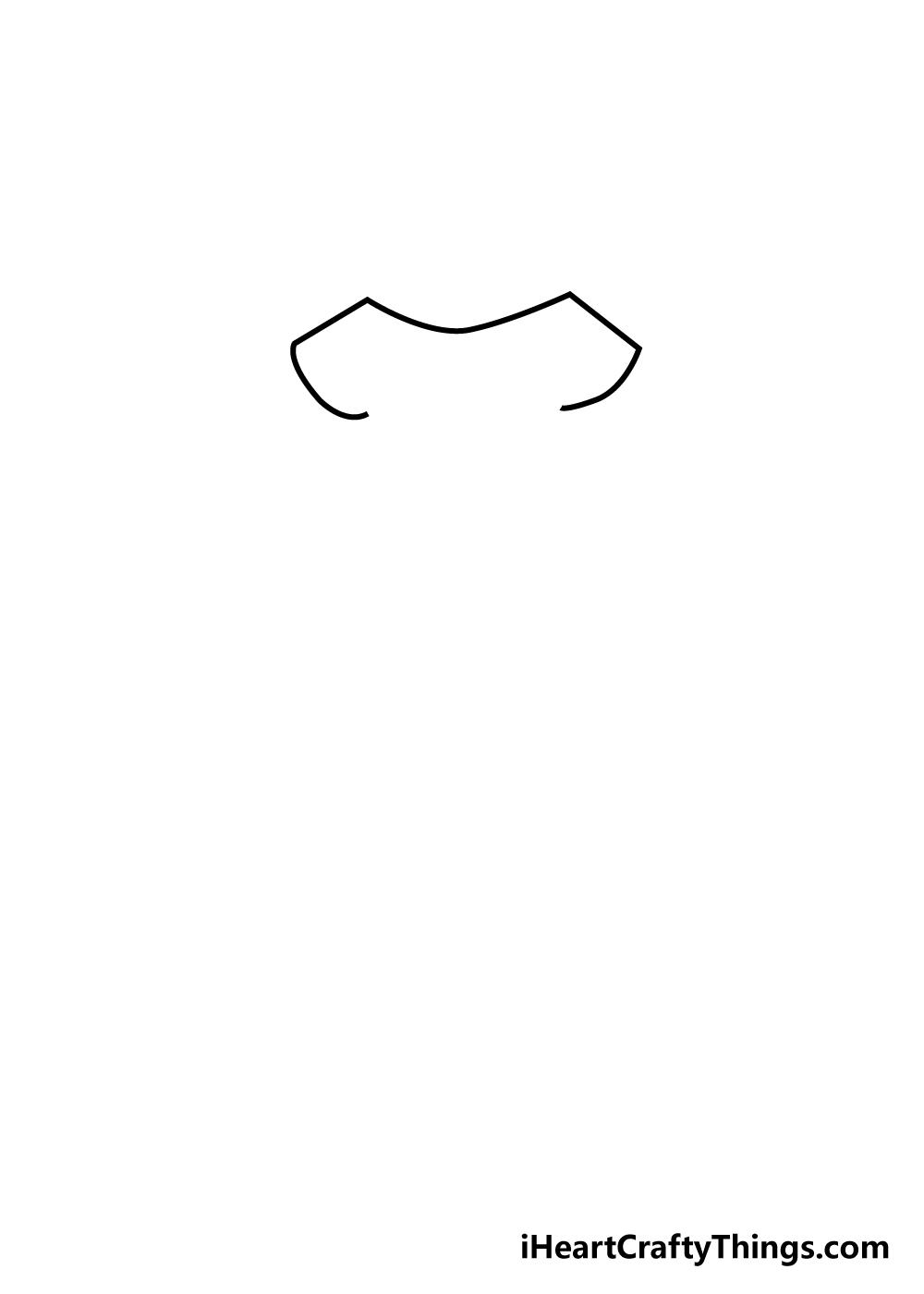 dress drawing step 1