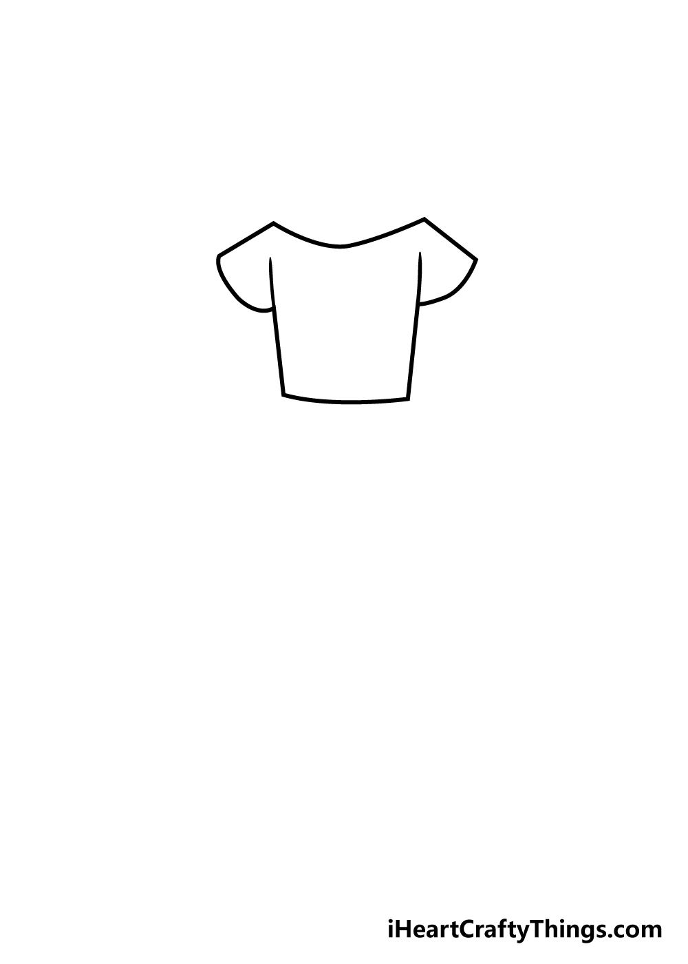 dress drawing step 2