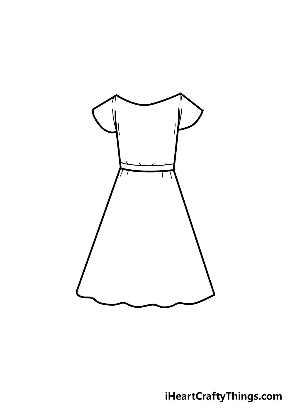 dress drawing step 5