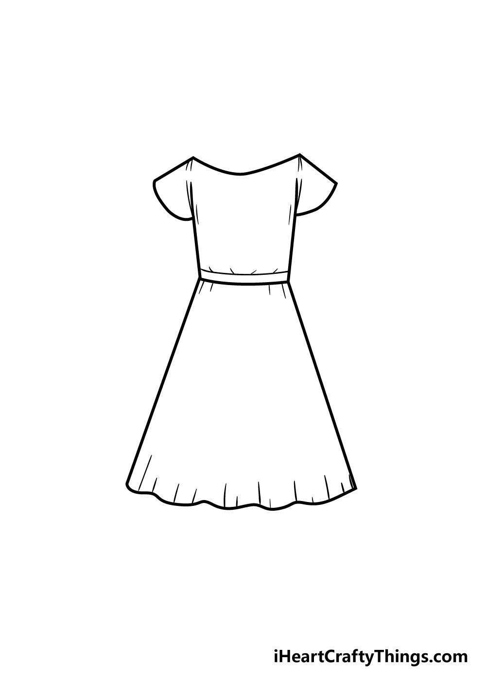 dress drawing step 6