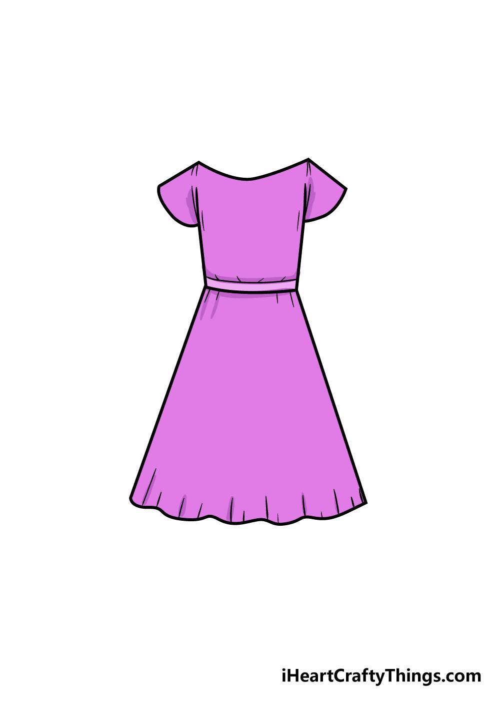 dress drawing step 7